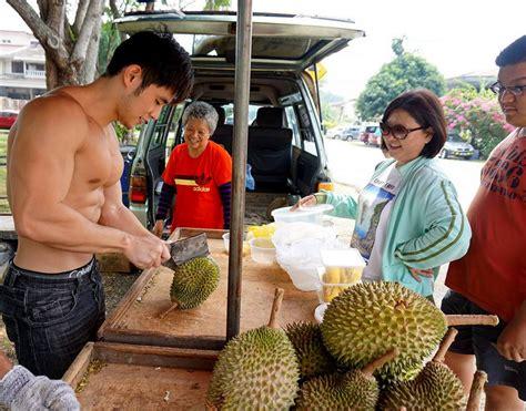 Hi Waist Cewek faceblogisra durian seller yeoh malaysia