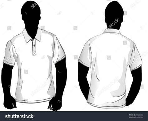 polo shirt template front and back white polo shirt design template front stock vector