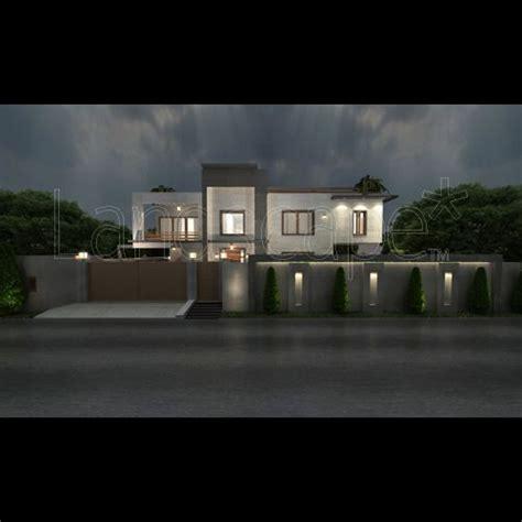 boundary wall design boundary wall lighting for dr nooshin s villa