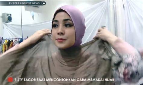 Ciput Kerut Risty Tagor Daleman Hjab Kerut Arab Iket Polos Termurah tutorial tanpa peniti jarum pentul ala risty tagor