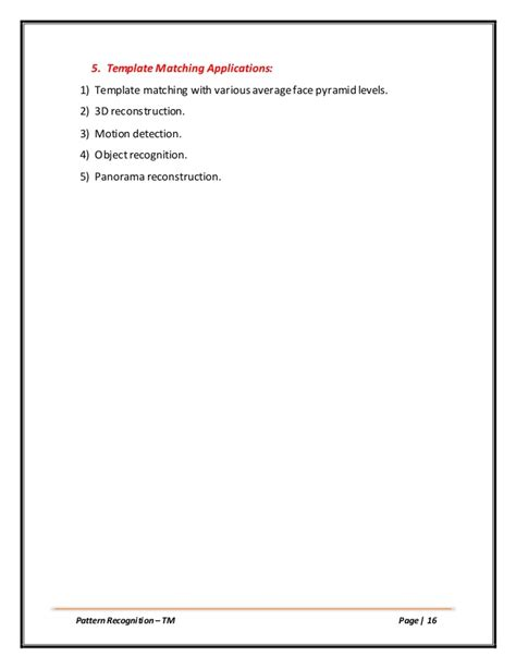 pattern recognition journal template template matching pattern recognition