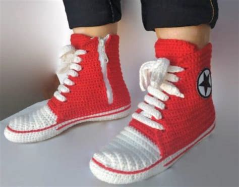 converse crochet slippers crochet converse slippers free pattern tutorial