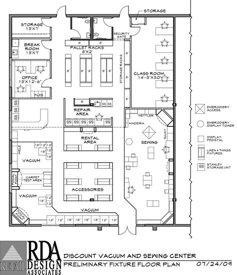 layout of hotel store retail store floor plan with dimensions google search