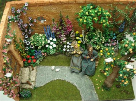 images  doll house flowers gardens
