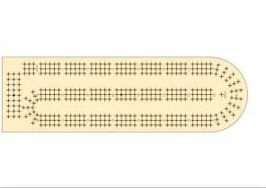 free cribbage board template