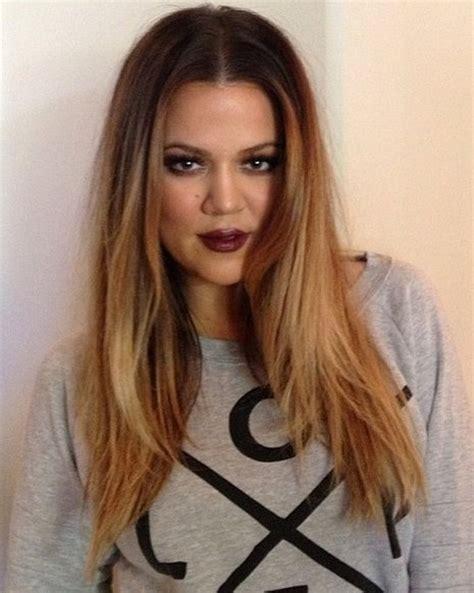 how to get khloe kardashian hair color 2014 2014 khloe kardashian hairstyles center part hairstyle