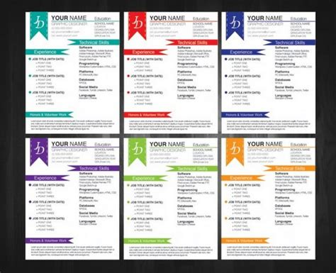 free colorful resume templates 35 free creative resume cv templates xdesigns