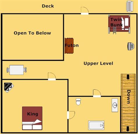 birds eye view of bedroom gatlinburg cabin birds eye view 2 bedroom sleeps 12