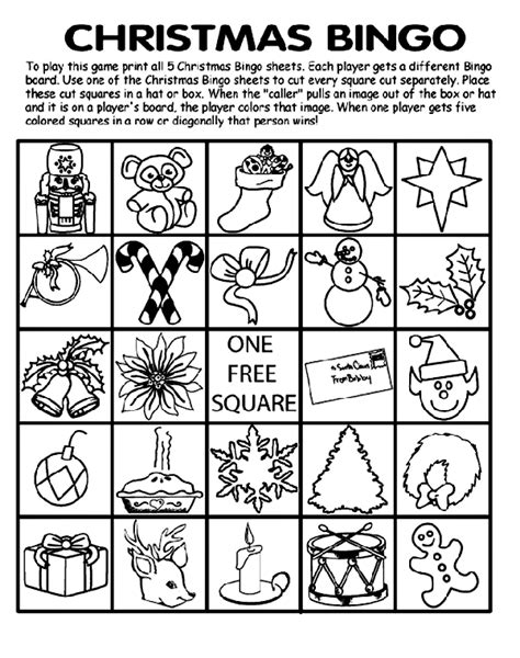 printable christmas bingo cards black and white christmas bingo board no 4 coloring page crayola com
