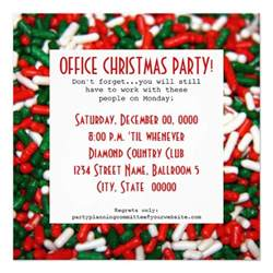 office christmas party invitations 5 25 quot square invitation