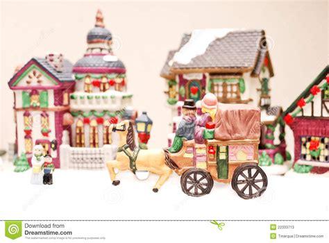 minuiture christmas towns mini town stock photos image 22333713