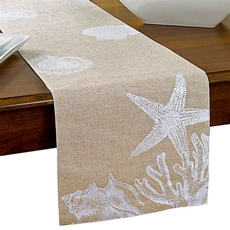 bed bath and beyond table runners shore shells table runner bed bath beyond