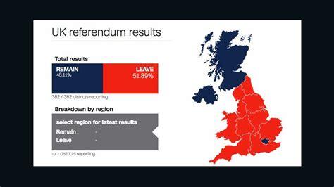 map uk vote brexit brexit vote revealed deeply divided britain cnn