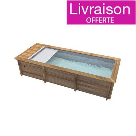 Piscine Hors Sol Design 2744 by Piscine Urbaine 600x250cm H133cm Avec Couverture