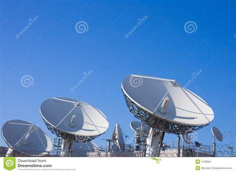 uplink telecom facility dish stock image image  remote