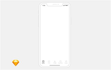 25 Outline Mockups For Wireframing Presentation Iphone Wireframe Template