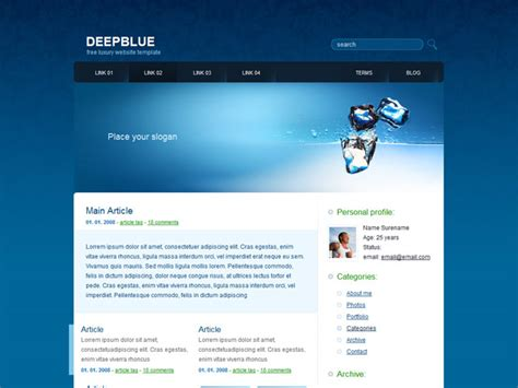 free homepage template free web templates for