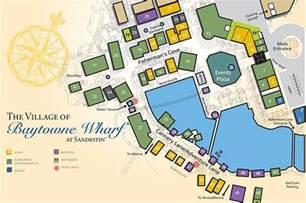 of baytowne wharf map destin florida