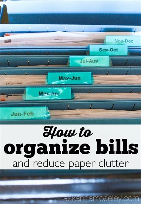 how to reduce clutter this very simple method for organizing bills and reduce