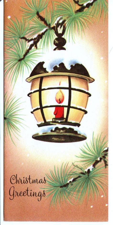 vintage christmas tree red candle lantern christmas