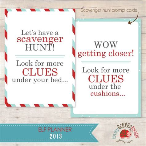 scavenger hunt card template top 135 ideas about trixie on on the shelf