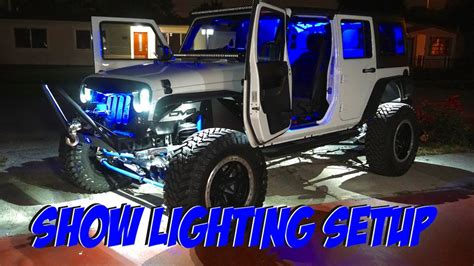 jeep interior lights wrangler jk led lighting setup wrangler interior