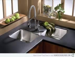 Black Backsplash Kitchen 15 Cool Corner Kitchen Sink Designs Home Design Lover