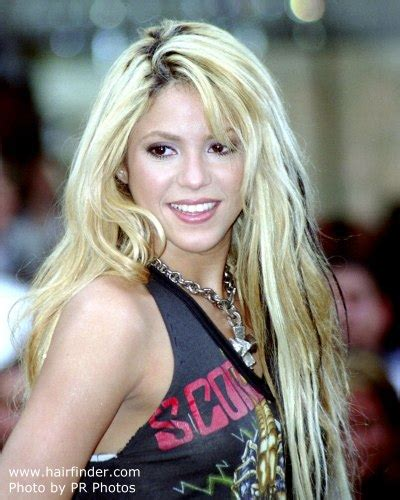 shakira extensions shakira with very long blonde hair