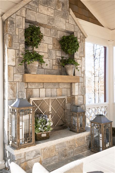 fireplace mantel cover southern living screened porch beautiful southern porches