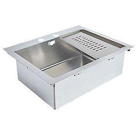 screwfix kitchen sinks kitchen sink stainless steel 1 bowl 620 x 500mm sinks