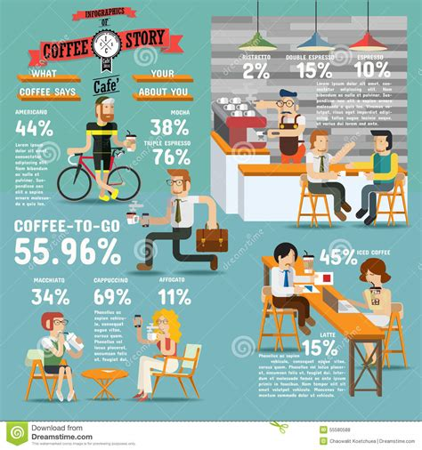 design elements of a coffee shop coffee design elements vector illustration cartoondealer