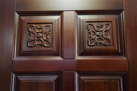 main door flower designs carving flower tan color modern latest design malaysian