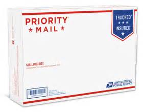 brand new new packaging for usps priority mail
