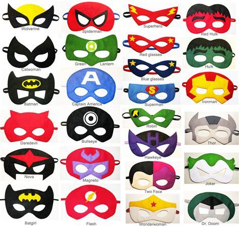 25 felt superhero masks party pack you choose styles dress