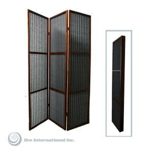 room dividers home depot home decorators collection 5 85 ft walnut 3 panel room divider n1007 3 walnut the home depot