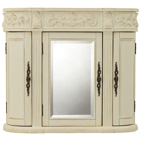 bathroom wall cabinet with mirror home decorators collection chelsea 31 1 2 in w bathroom