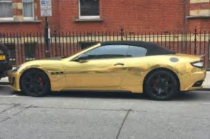 Gold Maserati Learner Drives Gold Plated Maserati Gaskings Car News