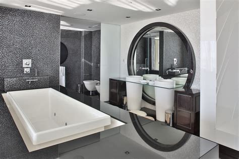 Black And White Bathroom Design by Miami Penthouse Luxury Master Bath Contemporary