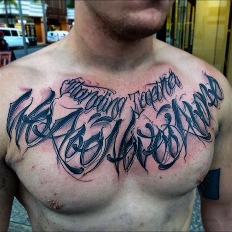 tattoo fonts male bloody black lettering chest inspiration