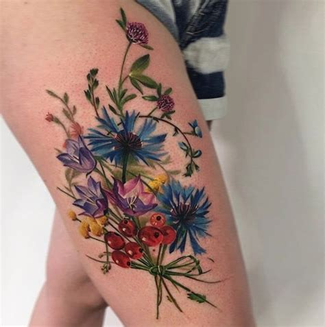 watercolor tattoo wildflowers vaizdo rezultatas pagal užklausą bouquet