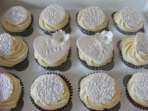 Wedding Anniversary Cupcakes by Pearl Wedding Anniversary Food Cupcakes