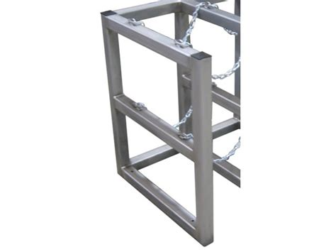 Cylinder Racks by Gas Cylinder Rack Stainless Steel Barricade 3 Tanks