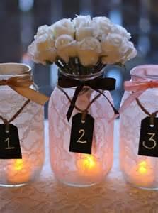 jar table centerpieces 37 stunning wedding candle centerpieces