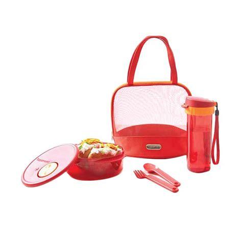 Tuperware Pretty Glam jual tupperware pretty glam lunch set peralatan makan merah harga kualitas terjamin