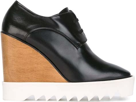 Stella Mccartney Wedges fanning in stella mccartney lace up wedge boots