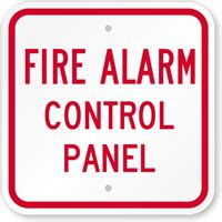 fire alarm control panel sign, sku: k 5834 mysafetysign.com