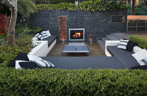 backyard lounge sunken seating areas that spark conversations