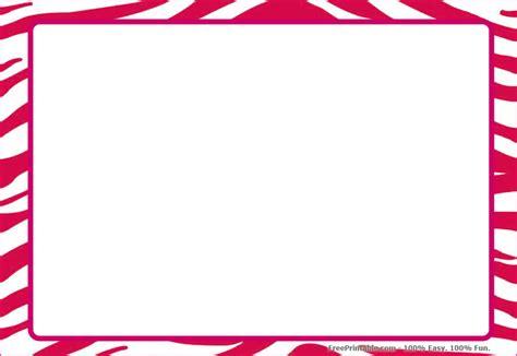 printable zebra borders invitations free printable zebra paper borders