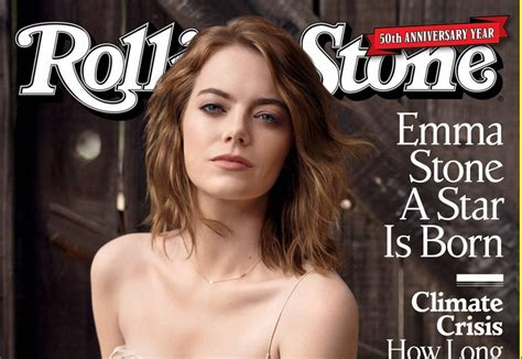 emma stone rolling stone emma stone covers the 50th anniversary of rolling stone