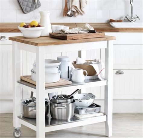 kitchen trolley ideas the sleek stenstorp kitchen cart gives you storage